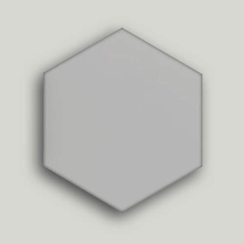 دیوار پوش شش ضلعی نقره ای