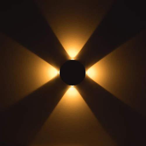 چراغ دکوراتیو نوری گرد چهارطرفه لنز محدب
