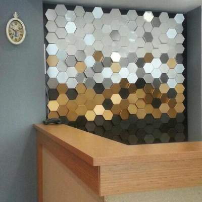دیوارپوش سه بعدی شش ضلعی